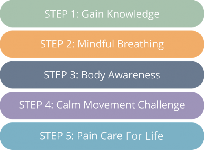 First 5 Steps (FREE!) of the Pain Care for Life Pain Management Program